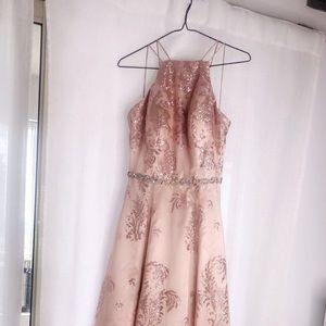 Beautiful chiffon pink prom dress